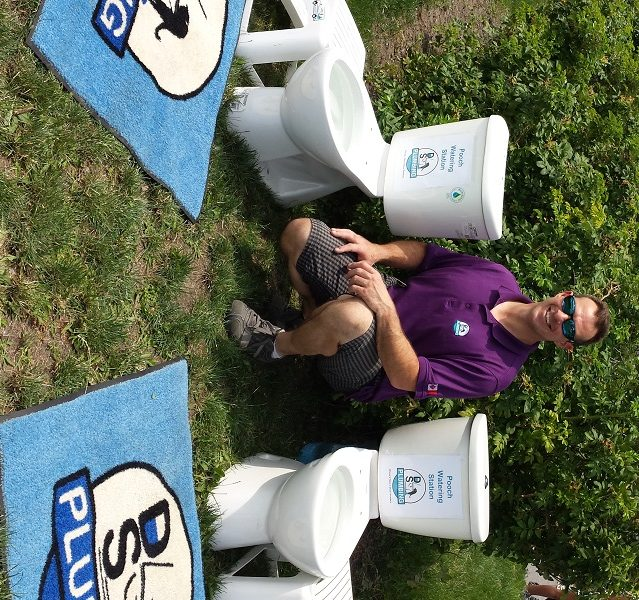 Dog watering stations for animal rescue benefit.