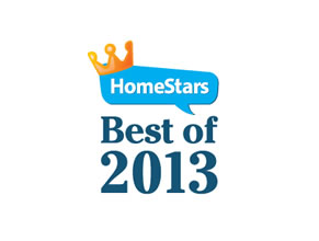 Proud winners of HomeStars best of 2013 award